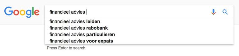 Zoekwoorden onderzoek Google Suggest | Bureau Bright